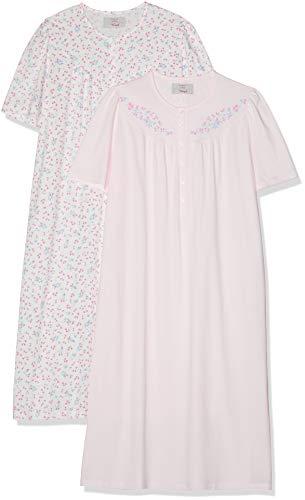 Triumph Damen Timeless Cotton SS19 NDK 2-Pack Nachthemd, Rosa (Pure Pink 1187), 44 (Herstellergröße: 44/46)