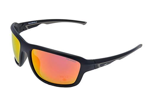 Gamswild WS7536 Sonnenbrille Sportbrille Skibrille Damen Herren Fahrradbrille Unisex   blau   pink-orange   grün-türkis, Farbe: Pink Orange