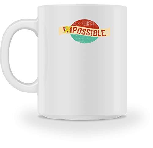 SPIRITSHIRTSHOP Impossible, Possible - Taza para mujer, niña, niño, hombre, soño, objetivos, Cerámica, Blanco, M