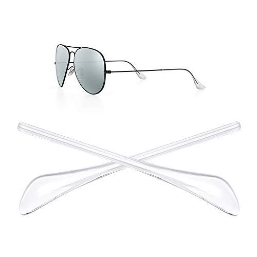 HEYDEFO ray ban 1ペア 眼鏡テンプル 先端ヒント 耳ソックスチューブ 交換用 補修チューブ サングラス 耳サックチューブ サングラス Ray-Ban (レイバン) Aviator RB3025 (クリスタル)