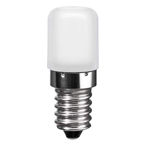 LED Kühlschrankbirne | E14 | 1,8 Watt | kalt-weiß 6500 K | LED Birne Lampe Leuchtmittel Sparlampe Kühlschranklampe | kaltweiss | ersetzt Glühbirne 15 Watt | 1 Stück