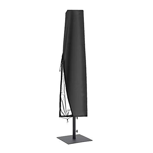GAMYEA Housse de Parapluie avec Fermeture à glissière Banane Cantilever Protection Solaire extérieure Couverture de Parapluie imperméable et Respirante (195 * 30-55 cm)