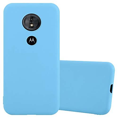 Cadorabo Hülle für Motorola Moto E5 / G6 Play in Candy BLAU - Handyhülle aus flexiblem TPU Silikon - Silikonhülle Schutzhülle Ultra Slim Soft Back Cover Hülle Bumper