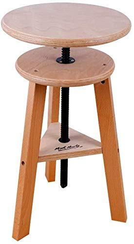 Mont Marte Taburete de caballete Signature para uso como silla, mesa auxiliar o soporte de escultura, fácil ajuste de altura, madera de haya