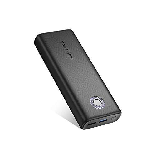 Power Bank 20000mAh QC18W Cargador Portátil Batería Externa Carga Rápida para Samsung,Huawei, Xiaomi y Otros Dispositivos-Negro