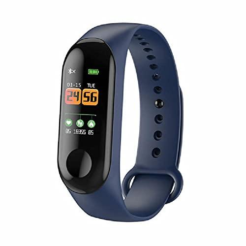 HD 0.96 pantalla a color M3S Smart Band reloj de ritmo cardíaco Tracker pulsera deporte fitness pulsera, Azul / Patchwork,