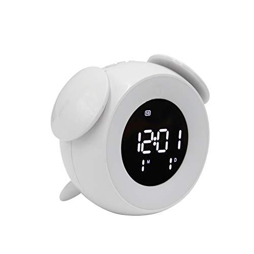 ZLBYB Lámpara de Control táctil electrónica Reloj USB Mesa electrónica Alarma Reloj Despertador LED Luz de Noche Digital Reloj de Alarma