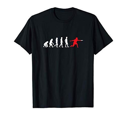 Frisbee Evolution Wurfscheibe Werfen Geschenk T-Shirt