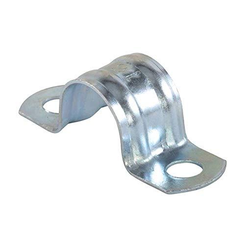fischer | BSMD-37mm de doble pata grapas metalicas abrazaderas para tubos de agua, manguera o cable coaxial pared (25 unidades)
