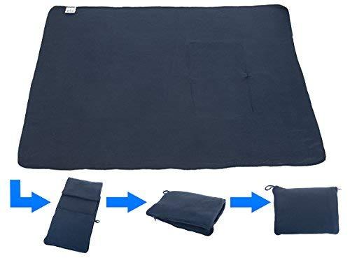 travelstar: patentiertes 2in1 Reise-Kissen (umwandelbar zur Decke), viele Farben (TS-B-1000) | 2 in 1 | Reisedecke | Decke | Kuscheldecke | Nackenstütze | Reisekissen | Kissen | für Frauen & Männer
