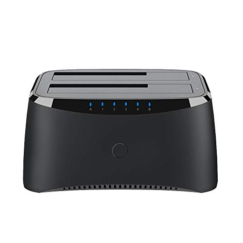 WAVLINK USB 3.0 to SATA I/II/III Dual Bay External Hard Drive Docking Station for 2.5 or 3.5in HDD, SSD with Hard Drive Duplicator