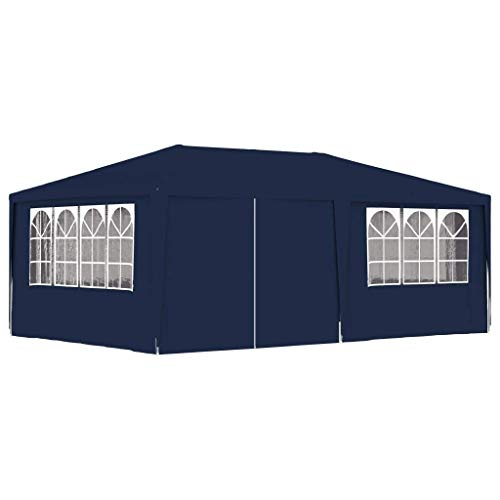 Küchenks Professional Party Tent with Side Walls, Garden Gazebo, Outdoor Canopy Marquee for Weddings, Parties, BBQs, Camping Trips 4x6 m Blue 90 g/m²