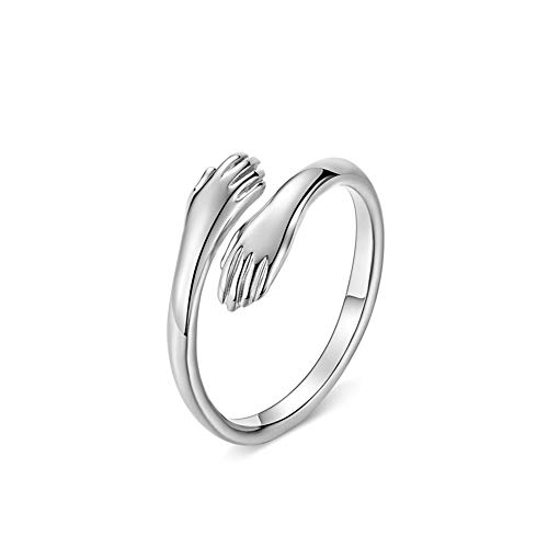 CRYSLOVE Anillo para mujere de plata de ley 925 anillos abiertos románticos...