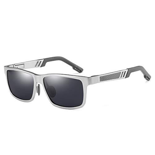 Gafas De Sol Polarizadas De Colores para Hombre con Monturas De Aluminio-Magnesio 100% UV400, Adecuadas para Hombres Y Mujeres, Ciclismo, Pesca, Conducción,F