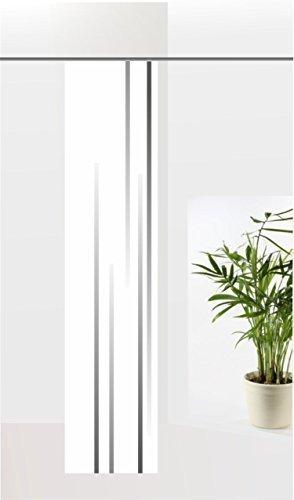 gardinen-for-life Flächenvorhang Linia Grey, Schiebevorhang mit Druck-Motiv, Gr.60x260 cm Schlichtes Modernes Motiv