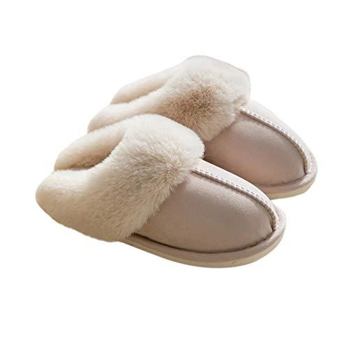 Zapatillas De Algodón para Mujer, Zapatillas De Interior, Zapatillas Cálidas para El Hogar, Antideslizantes, Zapatos De Otoño Invierno, Piso De La Casa, Tobogan