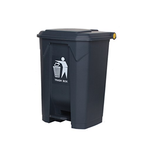 Great Price! LXF Outdoor Waste Bins Outdoor Trash can, Hotel Large Household Trash can Black Wheelie...