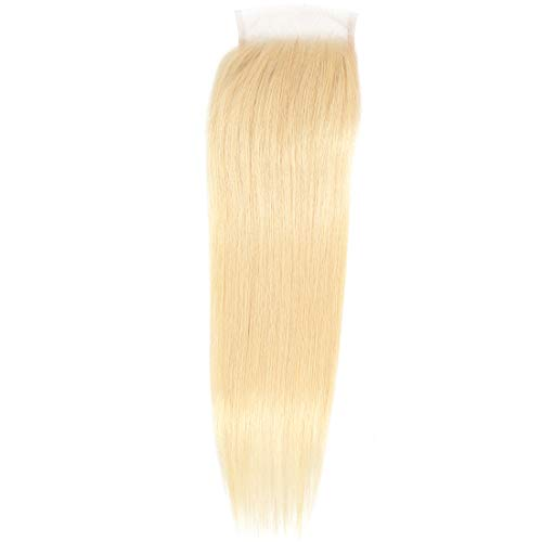 """AUTTO 613 Blonde Hair Free Part 4x4 Lace Closure Brazilian Straight Wave 100% Unprocessed Virgin Best Remy Real Human Hair Lace Closure(20"""")"""