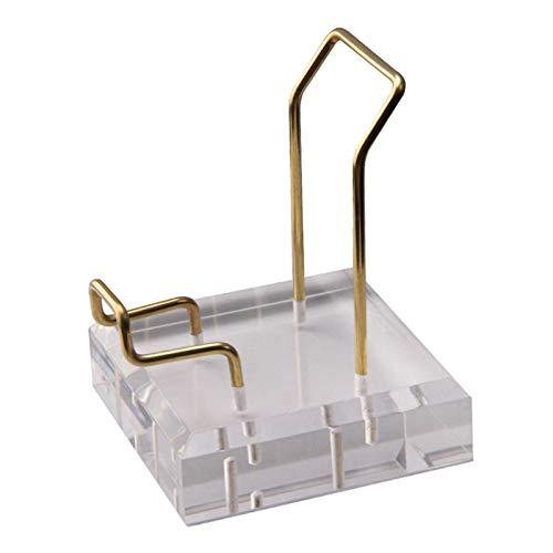 #N/A/a Brazo de Metal Mineral fósil Soporte de exhibición Estante acrílico Base de Soporte para minerales de Cristal Piedras de ágata decoración de la - 8x8x10cm