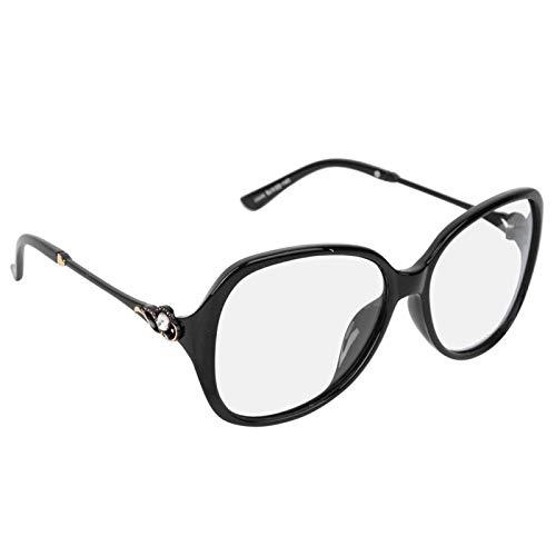 DAUERHAFT Gafas de Sol para Mujer Gafas de protección decolorantes convencionales, para Acampar al Aire Libre, para Proteger los(Bright Black Frame Discoloration)