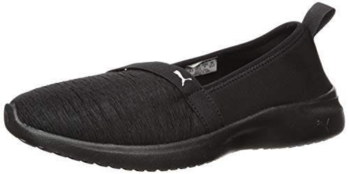 PUMA Women's Adelina Sneaker, Black White, 9 M US
