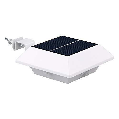 KEEDA Solarleuchte mit 4 LEDs, wasserdicht, zur Befestigung an der Wand. Solar-Bewegungsmelder für Dachrinne oder Rinnenzaun, den Garten oder die Terrasse, Sicherheitslicht.