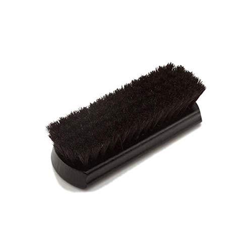 LDGS&TTW Cepillo Premium Cepillo Limpieza Pinceles Zapatillas de Cuero Brillo Brillo Soft Genuine Pein Biestles - Diseño cóncavo único Mango de Madera Agarre cómodo