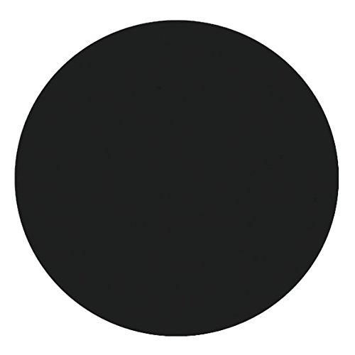 DecoHomeTextil Lacktischdecke Tischdecke Wachstuch Rund Oval Größe & Farbe wählbar Rund ca. 140 cm Schwarz Wachstischdecke Wachstuchtischdecke Gartentischdecke Lebensmittelecht