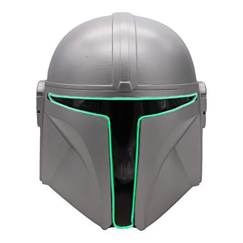 KENANLAN Mandalorian Helm Adult LED Der Mandalorian Helm Leuchtet Mandalorian Maske für Halloween Cosplay Party Prop.Resin Maske