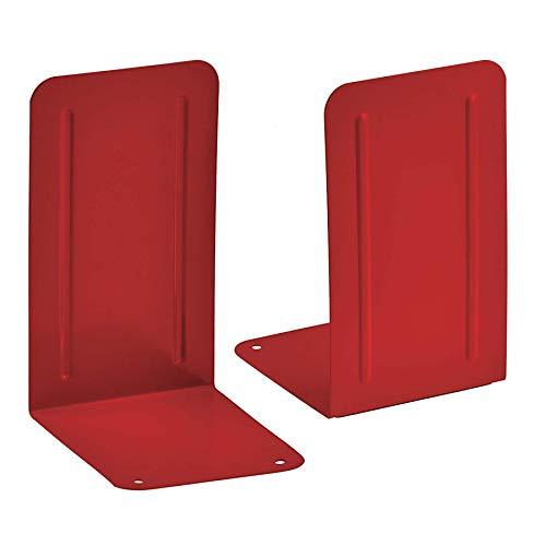 Acrimet Premium Buchstützen aus Metall Rutschfest Schwerlast (Rot) (1 Paar)