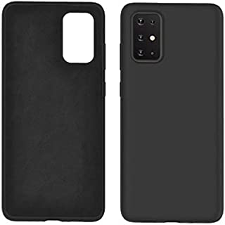 Moko Samsung Galaxy A71 Case Liquid Silicone Soft Lining Black