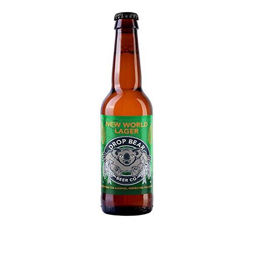 Drop Bear Beer, Cerveza sin alcohol, Lager sin alcohol, sin gluten, vegano, botellas de 330 ml (New World Lager, 12 botellas)