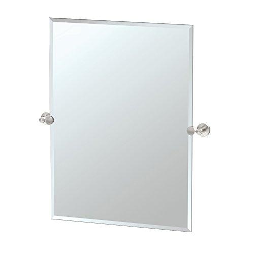 Gatco 4649S Glam Rectangle Mirror, Satin Nickel, -