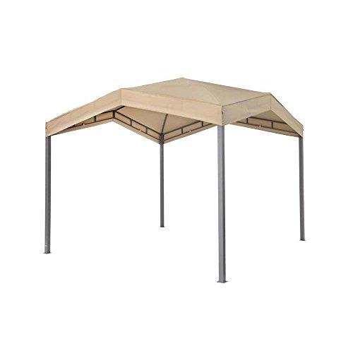 Tepro Pavillon Taupe MARABO 305x305x275 cm Garten Camping Terrasse 5531