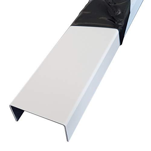 Alu U-Profil weiss Abdeckprofil aus 1,5mm Aluminium Verkehrsweiß RAL 9016 Einfassprofil, Kantenprofil