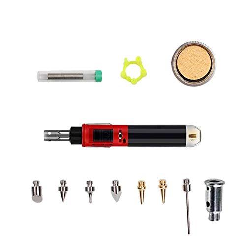 12 Stück Digital einstellbare automatische Zündung Elektro-Lötkolben-Kit Schweißbrenner-Werkzeuge Heißlötstift-Reparaturwerkzeug-Rot