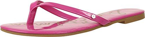 Sam Edelman Sam Edelman Damen Oliver Flip-Flop, Pink (Hot Pink Patent), 40 EU
