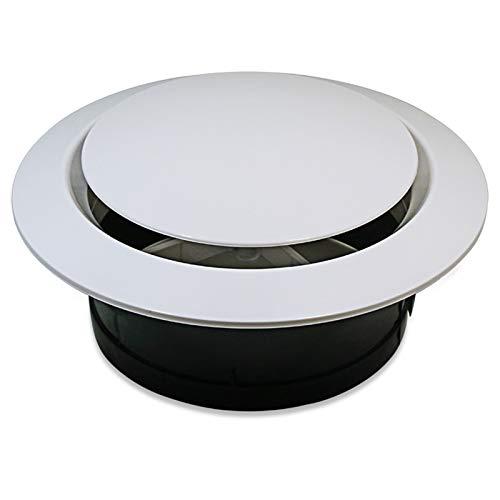 Kuinayouyi Cubierta de ventilación de ABS de 200 mm para el techo del baño, suministro de pared y rejilla de ventilación de escape para tubo de conducto redondo
