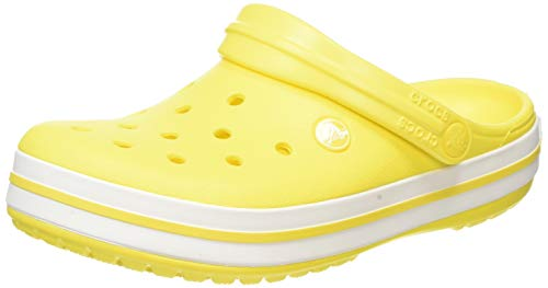 Crocs Crocband, Zuecos Unisex Adulto, Amarillo Lemon/White
