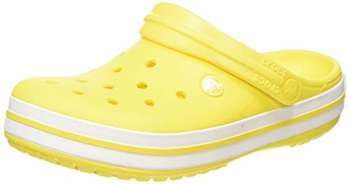 Crocs Unisex-Erwachsene Crocband Clogs, Gelb (Lemon/White), 37/38 EU