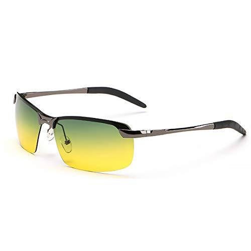 Nacht-Kontrast-Brille Nachtfahrbrille Nachtsichtbrillen Anti-Glanz polarisierte Brille mit grün-gelben Gläsern