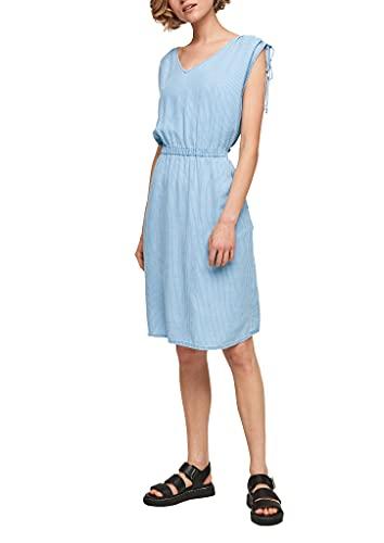 s.Oliver Damen Light Denim-Kleid mit Nadelstreifen blue lagoon stripes 44