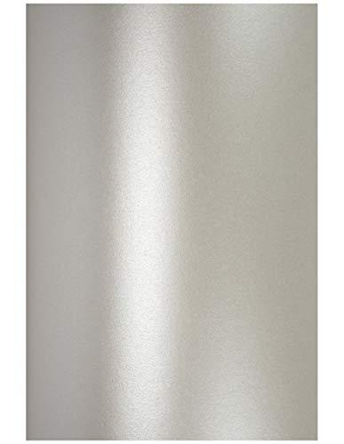 20 x Perlmutt-Silber 250g Karton DIN A4 210x297 mm Aster Metallic Silver glänzend Pearlkarton Perl-Glanz-Karton Metallic-Effekt Perlmuttglanz ideal für Hochzeitskarten, Einladungskarten, Visitenkarten