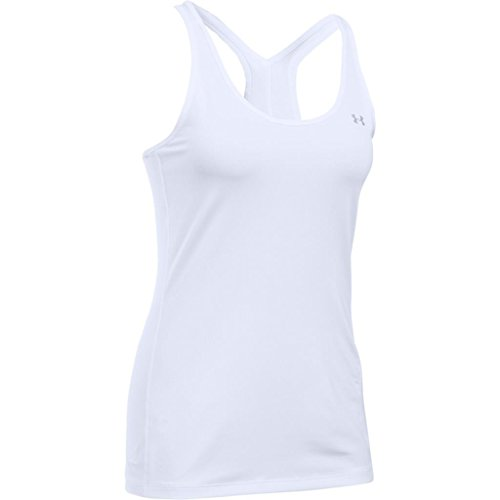 Under Armour UA HG Armour Racer Tank Camiseta Deportiva de Tirantes, Mujer, Blanco (White), XL