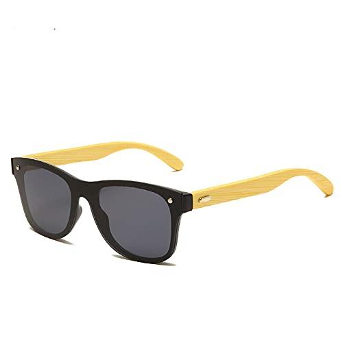 YCHH Fashion bambú Gafas de Sol de Madera para Mujeres Hombres clásico Retro al Aire Libre de la Pesca de conducción UV400 Gafas de Sol anteojos (Color : 6)