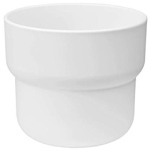 Ikea FORENLIG - Macetero para exteriores (12 cm), color blanco