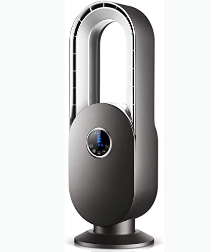 L&B-MR Ventilador sin aspas, Control Remoto oscilante Ventilador de Torre silencioso Purificación de Iones Negativos Ventilador de circulación de Aire Ventilador de Piso,Negro