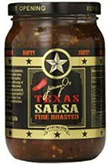 Jimmy O's Hot Fire-Roasted Texas Salsa, 16 Ounce World Wide Gourmet Service 24 Hour