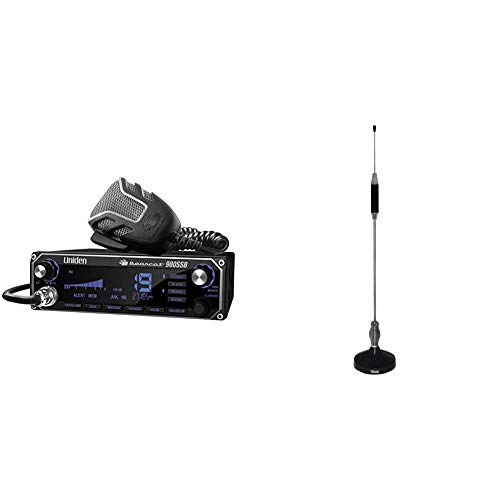 Uniden Bearcat 980 40- Channel SSB CB Radio with Sideband NOAA WeatherBand,7- Color Digital Display PA/CB Switch and Noise Cancelling Mic & Tram 703-HC Center Load CB Antenna Kit
