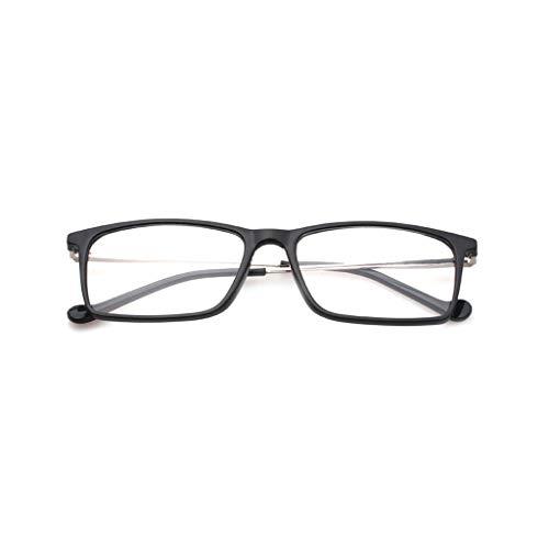 HaiShan HSYJ Metallrahmen TR Lesebrille Frauen & AmpMen Cozy Qualitäts-Business-optische Verordnung Brillen Mit + 1.0-6.19.5 (Color : Black, Size : +300)